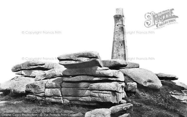 Carn Brea, the Monument c1876