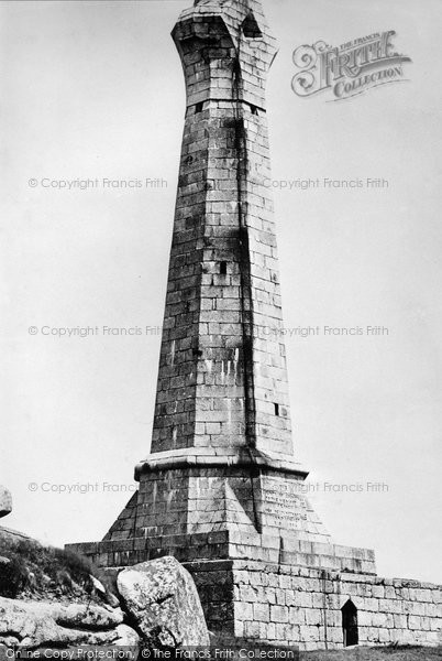 Photo of Carn Brea, The Monument c.1876