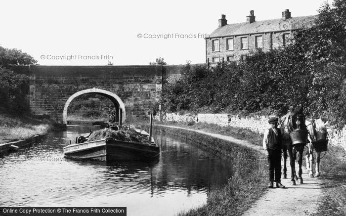 Carnforth, Barge On The Canal 1918