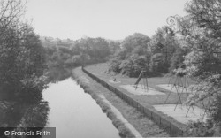 Carnforth, The Canal And Playground c.1955