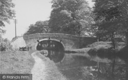 Carnforth, The Canal At Traveller's Rest c.1955