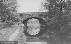 Carnforth, The Towpath And Bridge c.1955