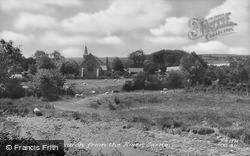 St John The Baptist's Church From The River c.1955, Carno