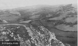 View From The Castle c.1960, Carreg Cennen