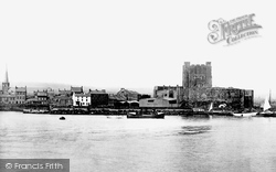 Carrickfergus, The Castle From Alexandra Pier 1897