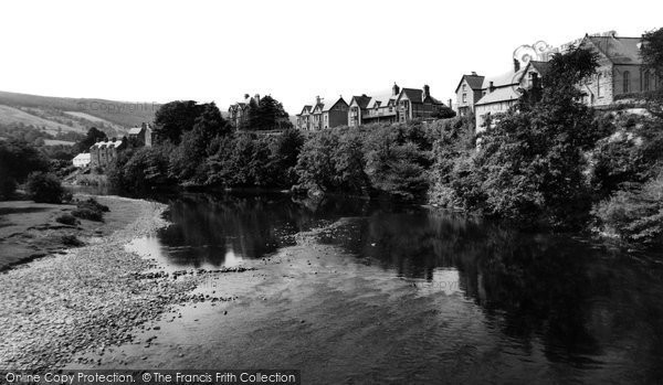 Carrog, the River from the Bridge c1960