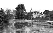 Carshalton, All Saints Church and Pond c1955