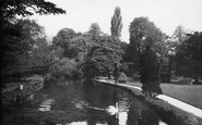 Carshalton, River Wandle in the Grove 1928
