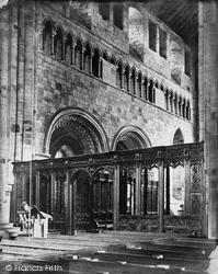 Cartmel, Church, Choir Screen c.1875