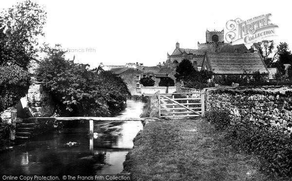 Cartmel, Priory Church and Beck 1894.  (Neg. 34095)  � Copyright The Francis Frith Collection 2008. http://www.francisfrith.com
