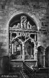 Cartmel, The Church, Harrington Monument c.1875