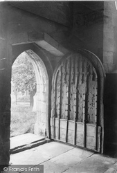 Cartmel, The Priory Church, Ancient Doorway 1912