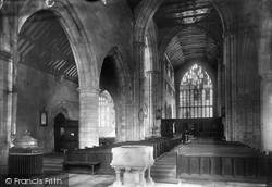 Cartmel, The Priory Church, Nave East 1894