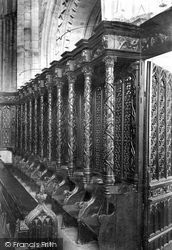 Cartmel, The Priory Church, The Choir Stalls 1912