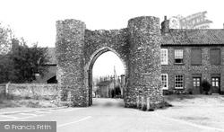 Castle Acre, Bailey Gate c.1955
