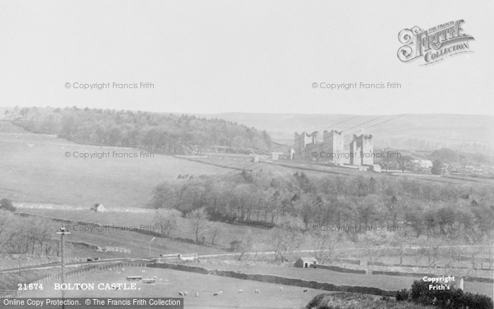 Photo of Castle Bolton, Bolton Castle 1889