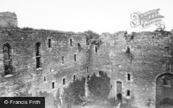 Castle Bolton, Bolton Castle Courtyard c.1955
