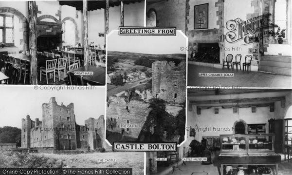 Photo of Castle Bolton, Composite c.1960