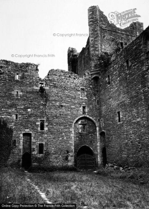 Photo of Castle Bolton, The Castle Courtyard c.1955