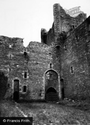 Castle Bolton, The Castle Courtyard c.1955