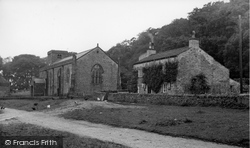 Castle Bolton, The Post Office And St Oswald's Church c.1955