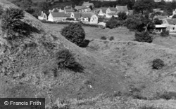 Castle Bytham, Castle Mound And Village 1953