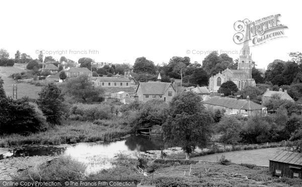 Castle Cary, the Church from Lodge Hill c1955