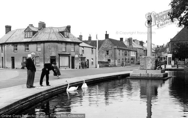Photo of Castle Cary, The Horse Pond c.1955