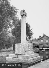 Castle Cary, the War Memorial c1965