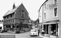 Castle Cary, Town Hall And Round House c.1960