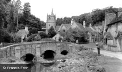 Castle Combe, Bridge And St Andrew's  Church c.1955