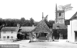 Castle Combe, Market Cross And St Andrew's Church 1906
