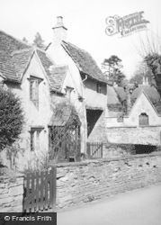 Castle Combe, Old Cottages 1951
