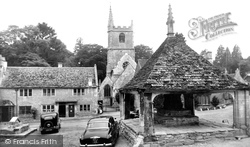 Castle Combe, St Andrew's Church And Cross c.1955