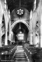 Castle Combe, St Andrew's Church Interior 1906