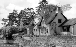 Castle Combe, Thatched Cottages c.1955