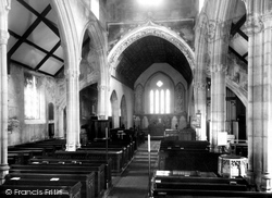 Castle Combe, The Church Interior c.1955