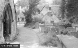 Castle Combe, The Church Yard c.1955