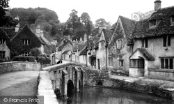 Castle Combe, The Stream And Bridge c.1955