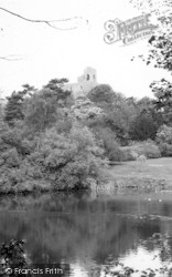 Castle Hedingham, The Lake And Keep c.1960