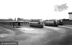 Castleford, The Bus Station c.1965