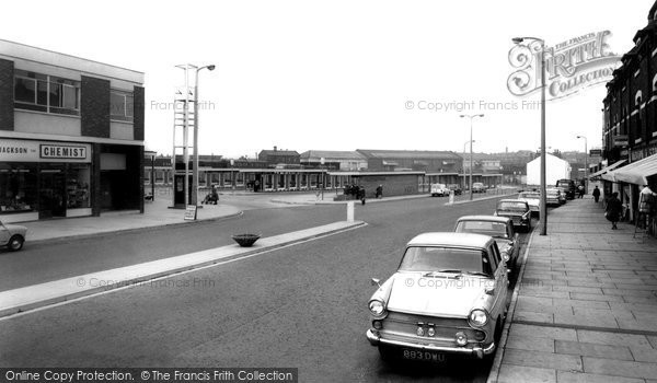 Castleford, the Bus Station c1965