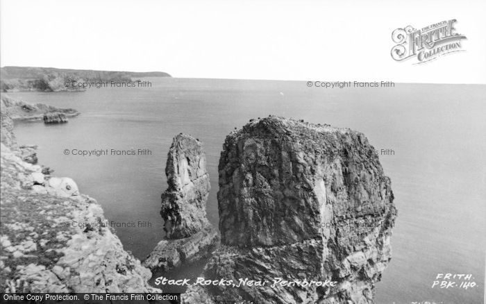 Photo of Castlemartin, Stack Rocks c.1955