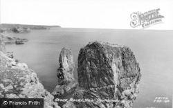 Castlemartin, Stack Rocks c.1955