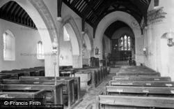 The Parish Church, Interior c.1955, Castlemartin