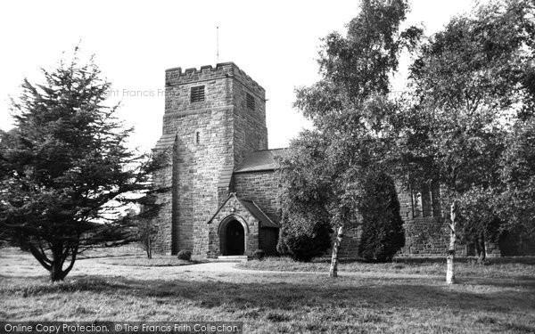 Castleton, the Church c1955