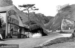 Entrance To Speedwell Cavern & Winnats Pass c.1955, Castleton