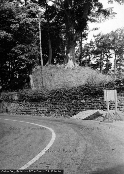 Photo of Castleton, The Castle Mound 1953