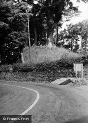Castleton, The Castle Mound 1953