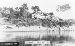 Caswell Bay, Caswell Bay Hotel c.1960